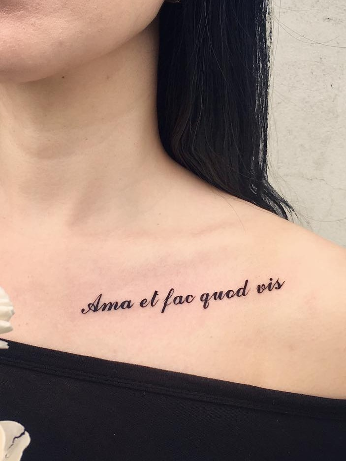 Elegant Collarbone Tattoos With Their Meanings